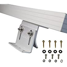 Renogy Solar Panel Mounting Curved Z Bracket -- Set of 4 for RV, Boat, Roof, Wall and other Off Gird Installation