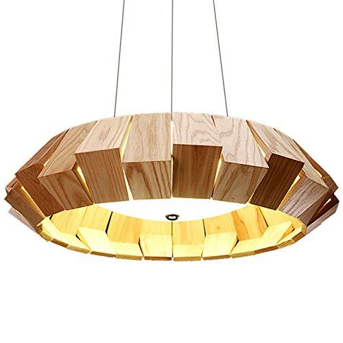 KY LEE 現代的なシンプルな木製のシャンデリア クリ洋風ペンダントライト 天井照明 3灯 電球付き おしゃれ カフェ インテリア シャンデリア 木調 かっこいい B07JQWRGN7