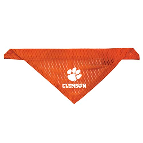(Littlearth Clemson Tigers Dog Cat Mesh Jersey Bandana L/XL)