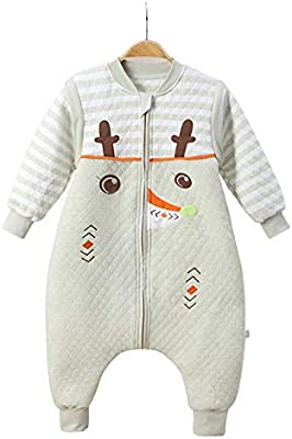 HAIMING-sleeping bag Saco De Dormir Pierna Dividida Mono De Bebe Pijamas De Bebe-Tres Cremalleras Mangas Desmontables Pantalones Retráctiles Pierna Color ...