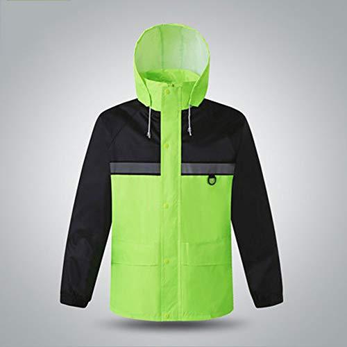 Boutique Yong Giubotto Sicurezza Salvataggio Riflettente Avvertimento Antipioggia Di Giubbotto Traffico dimensioni Impermeabile Fei L Verde TTqwBr7