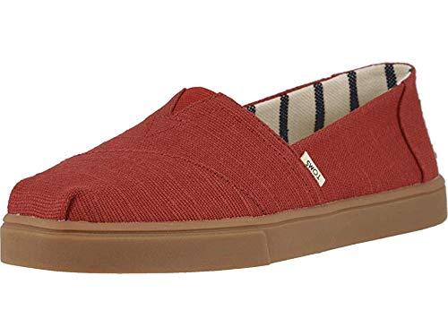 (TOMS Women's Del Rey Sneakers Shoes (38-39 M EU / 8 B(M) US, Steel Grey Washed)