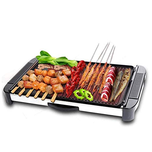 XXDTG Household Electric Barbecue Grill,Nonstick Electric Griddle Pancakes Griddle Grill, Family-Sized Barbecue Machine