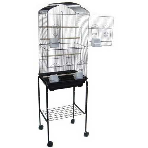 Canary Parakeet Cockatiel LoveBird Finch Bird Cages --18''x14''x60''-*Black by Mcage