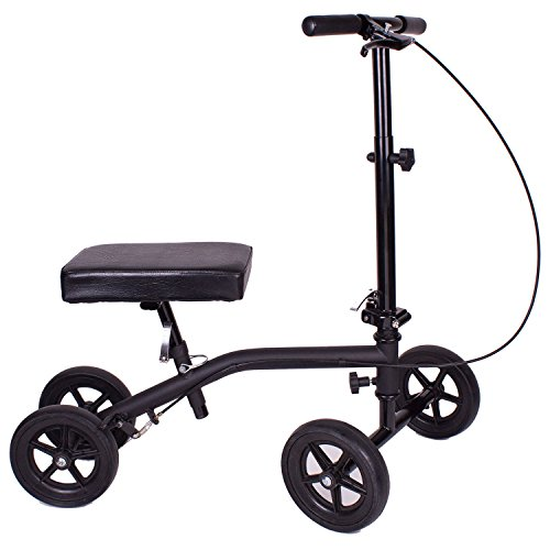 Carex Economy Rolling Knee Walker with Comfortable Padding – Steerable Knee Scooter for Foot Injuries with Hand Brake – Crutch Alternative