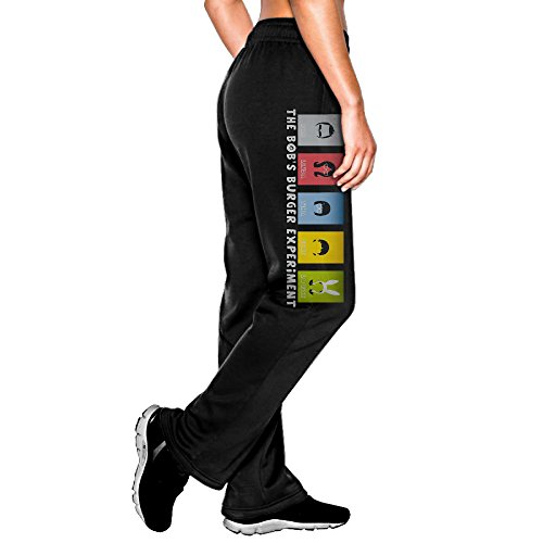 (YLS Womens Animated Sitcom Bob's HamBurgers ComfortableRowing Classic Sweatpants Leisure Wear Size M Black)