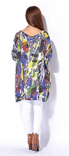 Smile YKK Long Sleeve One Size Damen Oversize Lose Hemd Bluse Langarmshirt  Oberteil Shirt Pullover Pulli ... f128a92f98
