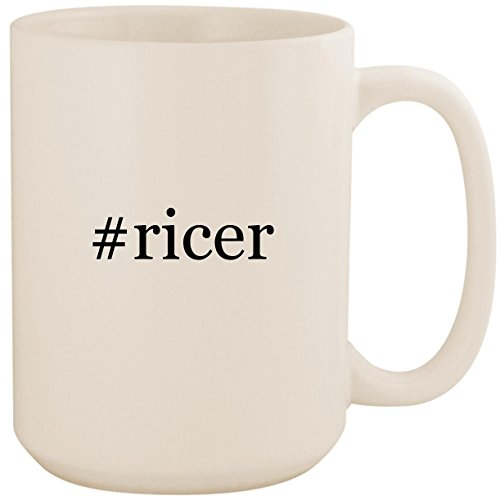 #ricer - White Hashtag 15oz Ceramic Coffee Mug Cup