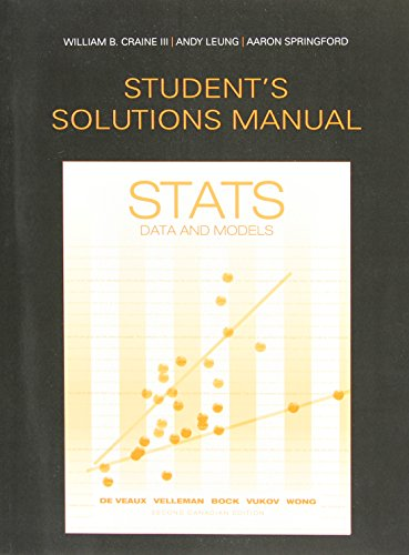 Student Solutions Manual for Stats: Data and Models, Second Canadian Edition