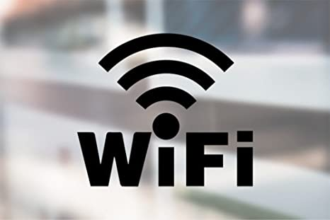 AK Wall Art WiFi Sign Free Wi-Fi Inside Store Sign - Vinyl Decal - Car Phone Helmet - Select Size