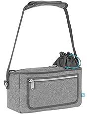 Babymoov Premium Universal Stroller Organizer|XL Storage, Gray
