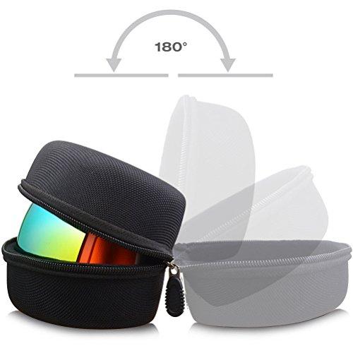 41xo5kJj5aL - ZIONOR Ski Snowboard Goggles Box - Hard EVA Protection Carrying Case for Snow Sport