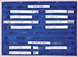 POCKET CHART X-WIDE 10PKT BLUE