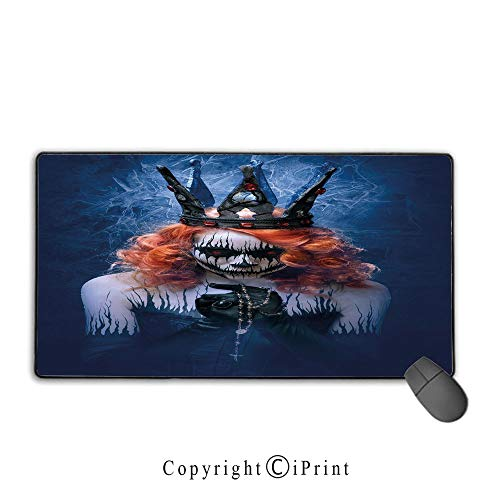 Extended Gaming Mouse pad with Stitched Edges,Queen,Queen of