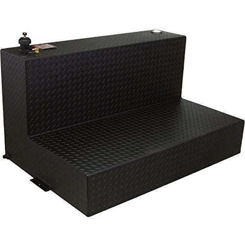 RDS L-Shaped Aluminum Transfer Tank/Auxiliary Fuel Tank - 95-Gal. Capacity, Black Diamond Plate, Model# 70388PC