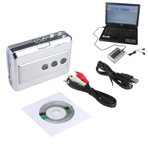 Transfer Ipod Pc Software - AGPtek® Portable LP Vinyl Tape to PC Dual Hybrid USB Cassette-to-MP3 Converter Capture With Audio Output , Work For All Kinds Of Tapes