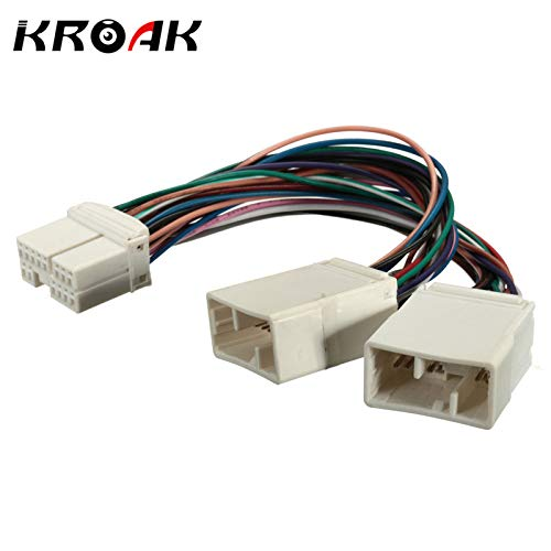 Iris-Shop - KROAK Car Y Cable Splitter For Aux CD Changer Navigation XM Radio For Ipod Adapter Fits For Honda