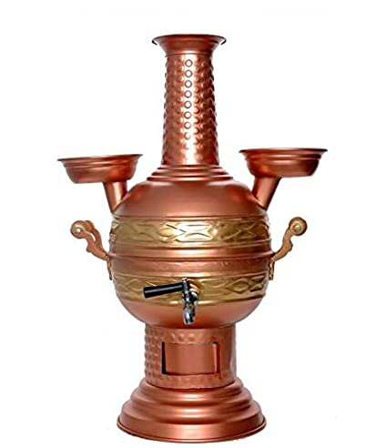Samovar Tea Kettle Yachting Hiking Picnic for Camping Turkish Semaver Charcoal and Wood Water Heater Boiler Hunting