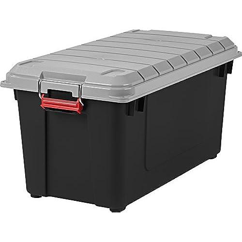 Ordinaire IRIS USA, Inc. IRIS 82 Quart Weathertight Storage Box, Store It All Utility  Tote, 4 Pack, Black