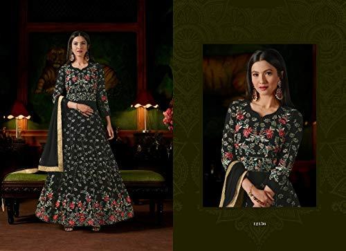 Collection Black Nero Eid Abito Rakhi Lungo Anarkali 2865 Ethnic Kameez Emporium Donna Salwar wPqC44