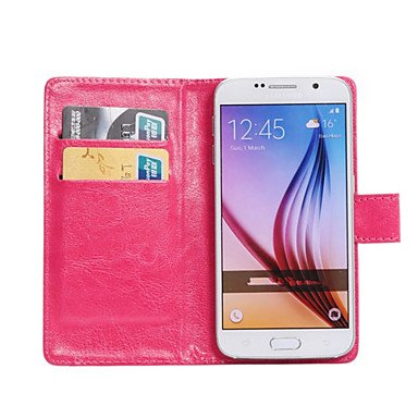 360 Degree Flip PU Leather phone Case Purse businiss For Galaxy Grand Max/Fame Lite/Core Mini/Core 2/Ace 4/E5 ( Color : Rose , Compatible Models : Galaxy J5 )