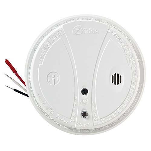 Kidde i12040 120V AC Wire-In Smoke Alarm with Battery Backup and Smart Hush (Kidde Tamper)