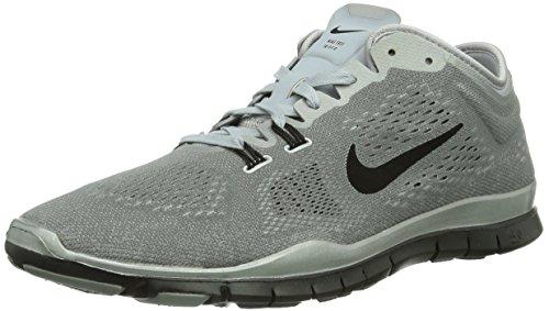 Nike Womens Wmn Free 5.0 TR Fit 4 PRM, REFLECT SILVER/BLACK-WOLF GREY, 9 US