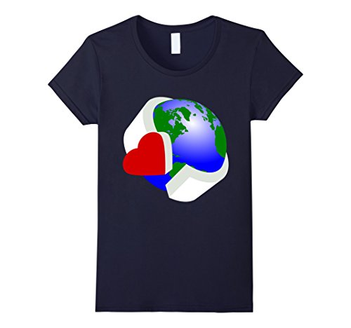 [Women's Save The Earth T Shirt Large Navy] (Father And Daughter Halloween Costume Ideas)