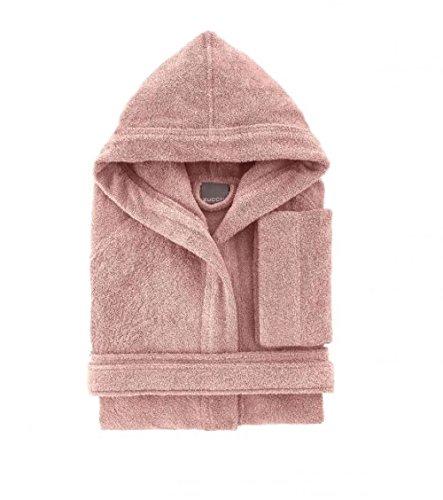 Bademantel Bassetti Herren Damen mit Kapuze Größe L Schwamm-Puro Baumwolle 370 gr/m²