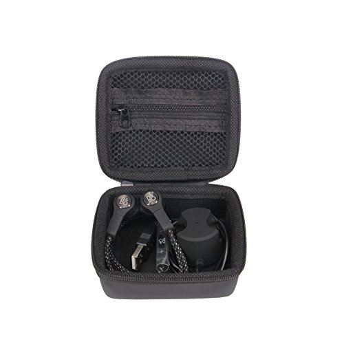 Meijunter Portable Hard Case Cover Pouch Bag Box Storage for B&O PLAY by Bang & Olufsen Beoplay H5 Wireless Earbuds Earphones Headphones Extra Room for USB Cable&Dock Charger (Black)