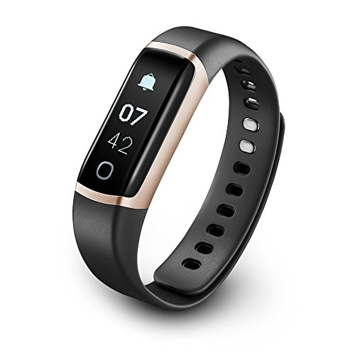 TicBand, Fitness Tracker, 24/7 Activity Tracking with Heart Rate Monitor, Automatic Sleep Tracking (Gold)