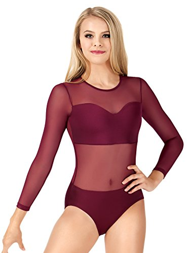 Adult Sweetheart Long Sleeve Leotard NL200WHTS White Small
