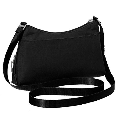Handbag Shoulder Khaki Chain Key Purse Black Baggallini w Crinkle HSxqSda