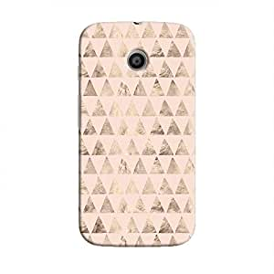 Cover It Up - Brown Light Pink Triangle Tile Moto E Hard Case