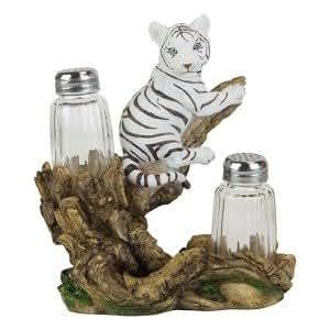 White Tiger Salt and Pepper Shaker by Vista