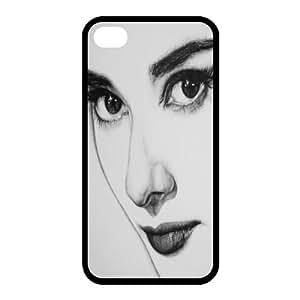 Custom Audrey Hepburn Back case for iphone4,4S JN4S-384