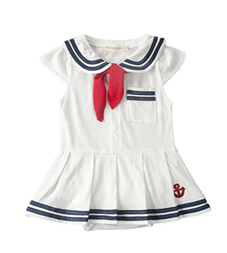 AvaCostume Baby Girls Sailor Rompers