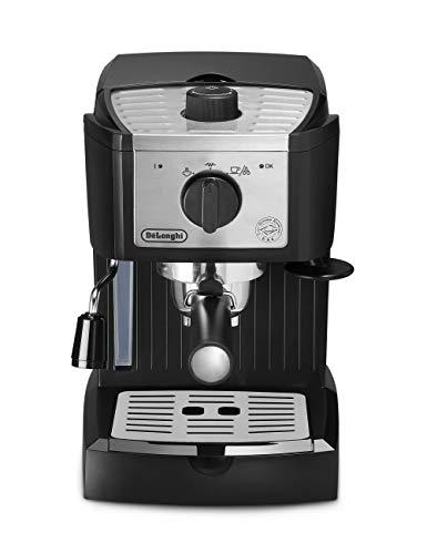 DeLonghi EC157 – Cafetera espresso manual, 1100 W, 1,1 l, acero inoxidable