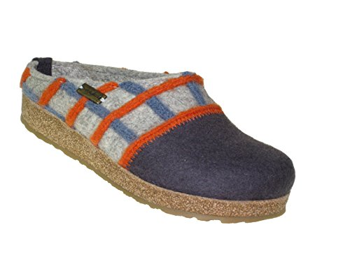 Haflinger Grizzly Web731047 - Zapatillas de casa de fieltro para mujer Grau