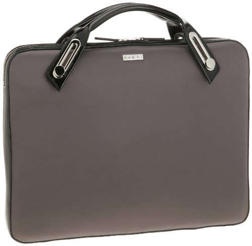 New York Slim Briefcase - abbi PC bag Michel Satin Slim Career Gray