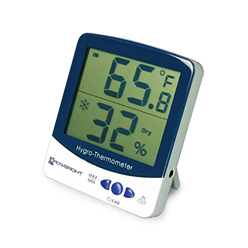 GrowBright Digital LCD Humidity Monitor & Indoor/Outdoor Thermometer