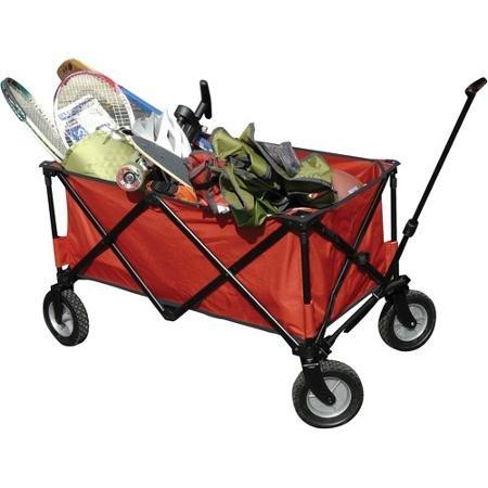 Ozark Trail Folding Wagon, Blue - Video Conference Carts