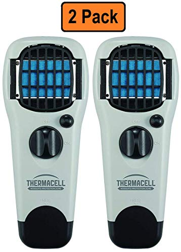 Thermacell Mosquito Repellent Outdoor and Camping Repeller Devices (Gray) 2-Pack