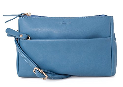Double Zip Small Crossbody Bag Satchel for Women by AMELIE GALANTI (Image #9)