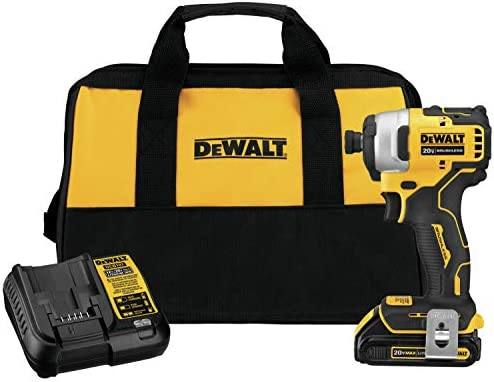 DEWALT DCF809C1 Atomic 20V Max Lithium-Ion Brushless Cordless Compact 1 4 In. Impact Driver Kit W 1 Battery