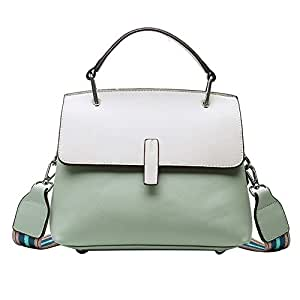 Fashion New Exquisite Novel Casual Fashion Portable Slung Shoulder Small PU Handbag (Color : Green)