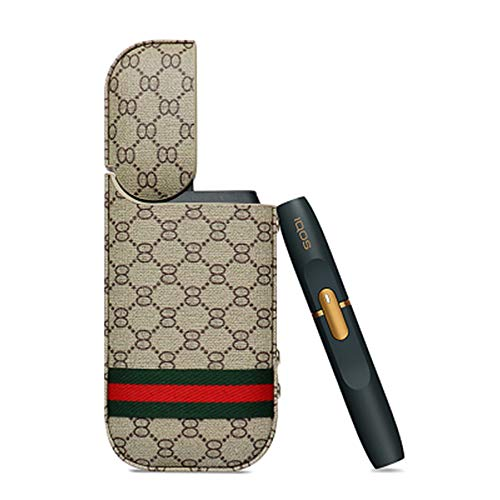 Iqos Electronic Cigarette Protective Holder Smooth Leather High Quality PU Thin Type Improved Scratch Side Button Full Cover 2.4 Plus Support,Khaki by Mmyunx (Image #8)
