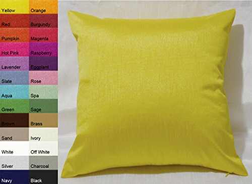 Creative Faux Silk Solid Euro Sham / Pillow Cover 26 by 26 -
