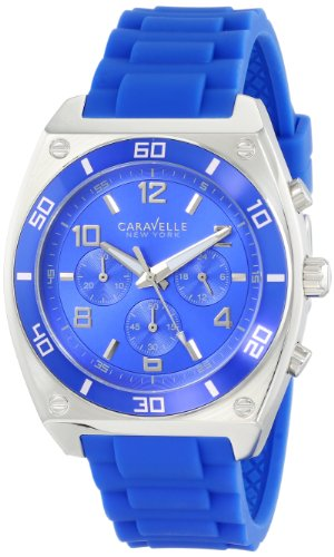 Caravelle New York Men's 45A115 Analog Display Japanese Quartz Blue Watch