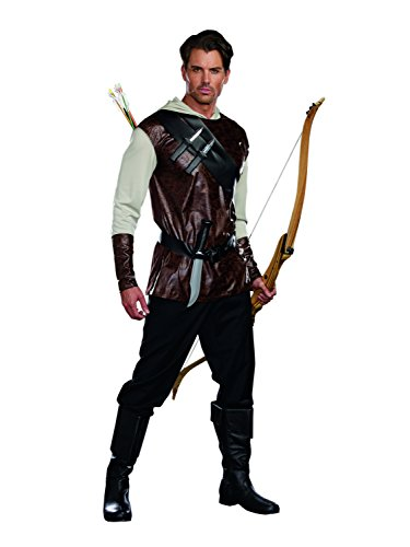 Dreamguy Men's The Huntsman Fairytale Hunter Costume, Brown, (Renaissance Place Knife)